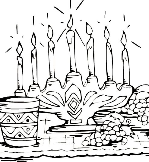 Kwanzaa Being Celebrate Coloring Pages