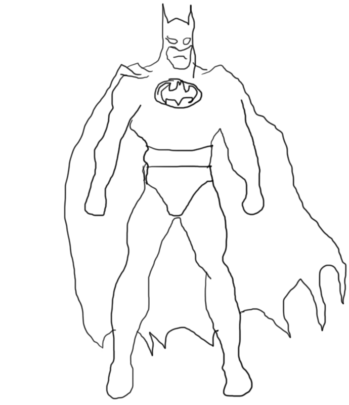 Check out this sweet pic of Batman I drew. Took me hours