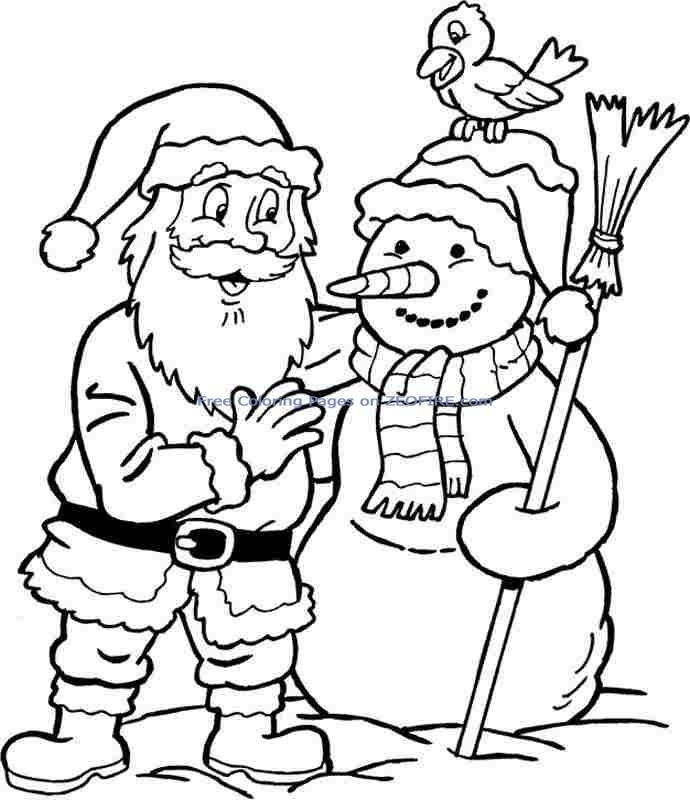 christmas santa claus coloring pages free for little kids